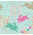 rabbit seamless texture endless vector image vector image