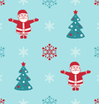 Retro Christmas seamless background with Santa fir vector image vector image