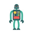 robot retro toy isolated vintage cyborg on white vector image vector image
