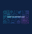 saint valentines day colorful linear banner vector image