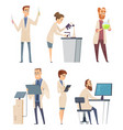 science characters pharmacist modern biologist vector image