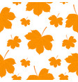 seamless pattern autumn yellow leaves vector image vector image