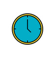 simple line icon time business sign eps10 vector image vector image