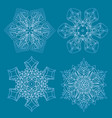 snowflakes set graphic snowflakes vector image vector image