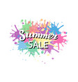 summer sale promotion typography banner summer vector image