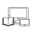 technoogy computing cartoon vector image vector image