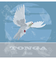 Tonga Dove Retro styled image vector image vector image