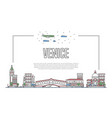 travel venice poster in linear style vector image vector image