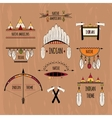 Tribal labels set colored vector image vector image