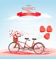 valentines day holiday background with tandem vector image