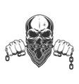 vintage criminal concept vector image