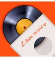 Vinyl record with cover poster vector image vector image