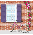 window and bike 1 vector image vector image