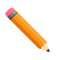 Pencil with eraser Isolated Flat design vector image