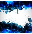 Blue ink blots background vector image