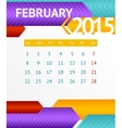 2015 Calendar February vector image vector image