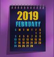 2019 calendar template vector image