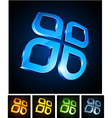 3d vibrant icons vector image vector image