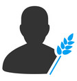 agriculture farmer flat icon vector image vector image