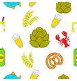 Alcohol pattern cartoon style vector image vector image