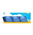 Alternative Energy Solar Power vector image