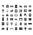 appliances icon set simple style vector image