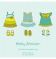 Baby Shower Card with Snail vector image