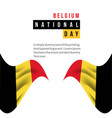 belgium national day template design vector image