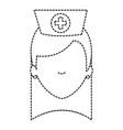 beutiful nurse head avatar character vector image vector image
