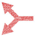 bifurcation arrow left fabric textured icon vector image vector image