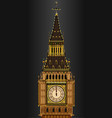 big ben striking midnight vector image vector image