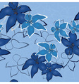 blue seamless flower background pattern flo vector image vector image