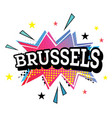brussels comic text in pop art style vector image vector image