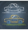 Car sketch on chalkboard vector image vector image