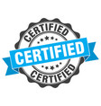 certified stamp sign seal vector image
