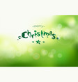Christmas and new year bokeh green background with