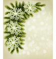 Christmas retro background with christmas tree vector image vector image