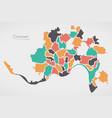 cincinnati ohio map with neighborhoods and modern vector image vector image
