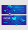 cloud technology and information concept banner vector image vector image