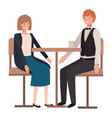 couple drinking coffee in living room vector image vector image