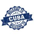 cuba round ribbon seal vector image vector image