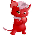 cute halloween character devil vector image