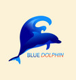 dolphin and wave vector image