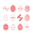 easter egg icon set vector image vector image