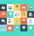flat icons set education vector image vector image
