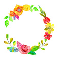 Flower watercolor wreath for beautiful design vector image vector image