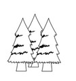 forest pine trees foliage natural trunk icon vector image