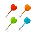 Four darts isolated on white vector image vector image