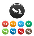 gavel in hand icons set color vector image vector image