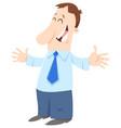 happy businessman cartoon character vector image